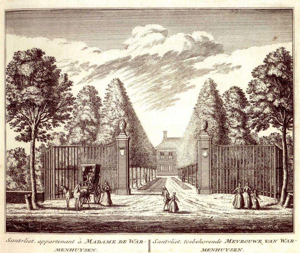 Santvliet te Lisse. Gravure A. Rademaker, 1732. Collectie auteur