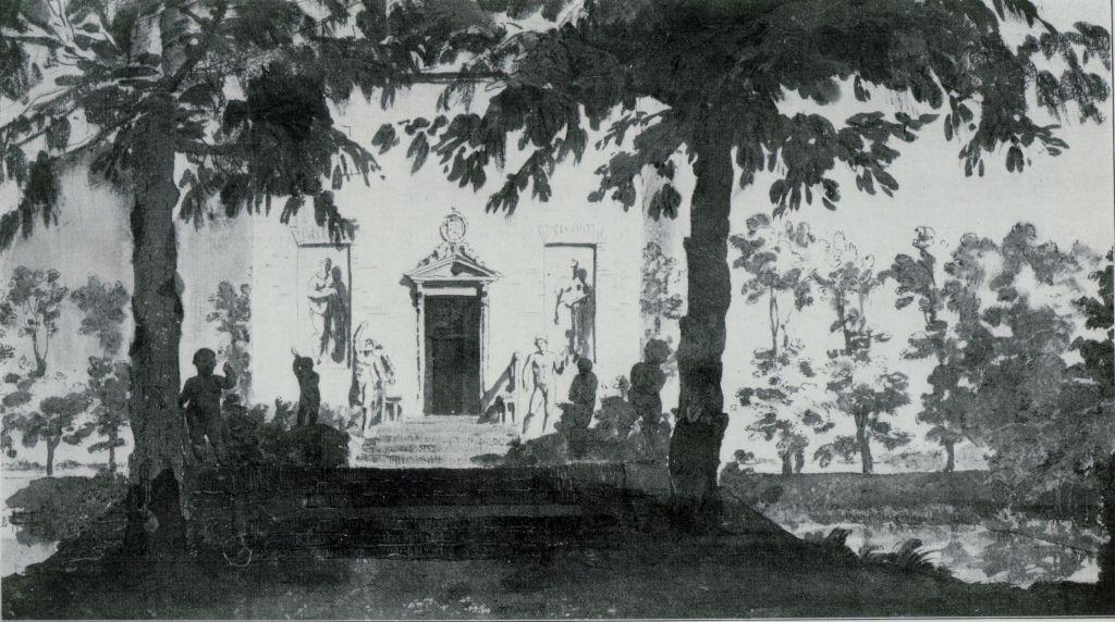 Decoratieprogrmma Hofwijck. Tekening J. de Bisschop, circa 1666