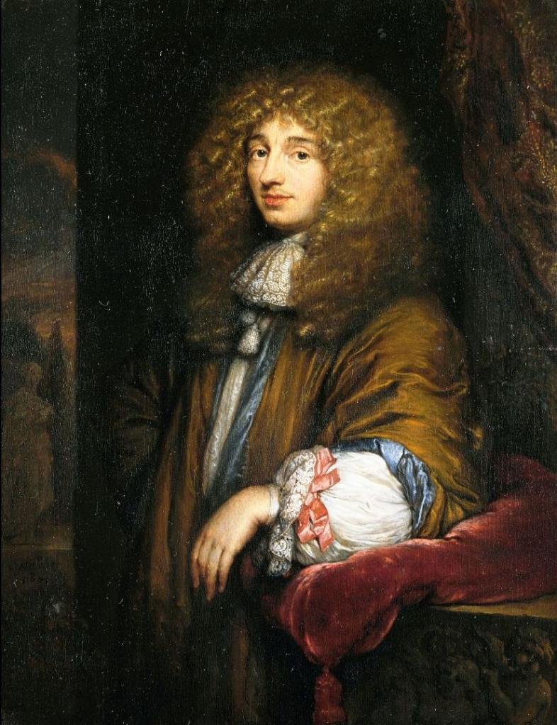 Christiaan Huygens geschilderd door C. Netscher, 1671. Collectie Haags Historisch Museum