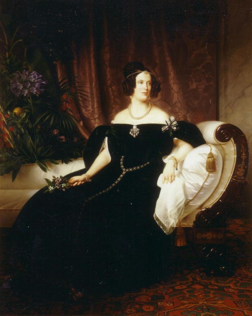 Prinses Marianne op 27-jarige leeftijd. Schilderij T. Hildebrandt, 1837. Collectie Geschiedkundige Vereniging Oranje-Nassau